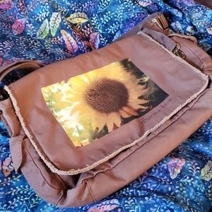 Large Dharma Love sunflower messenger bag